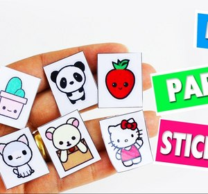 Diy Homemade Paper Stickers Easy Paper Crafts 5 Minutes Craft