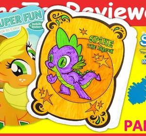 part 9 my little pony mlp coloring book spike markers unboxing toy review video by thetoyreviewer fawesometv - Mlp Coloring Book