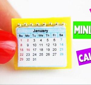 5 Minute Crafts Diy Miniature Doll Calendar Video By