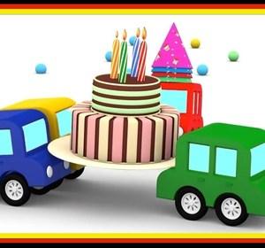 cartoon cars birthday surprise car