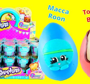 shopkins season 3 ultra rare find play doh egg with macca roon and