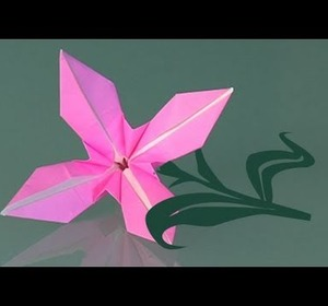How to make a paper flower origami video by traposous fawesome mightylinksfo