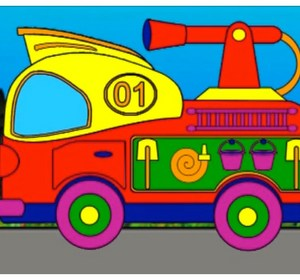 Magical Rainbow Learn Colours With Fire Engine Truck Childrens Educational Videos