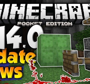 MCPE 0 14 0 UPDATE NEWS - Pistons, Slime Blocks, & More Features! -  Minecraft PE (Pocket Edition)
