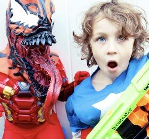 Nerf War Captain America Vs Iron Man Carnage Real Life Superhero Movie Video by BeaHeroKids | fawesome.tv  sc 1 st  fawesome.tv & Nerf War Captain America Vs Iron Man Carnage Real Life Superhero ...