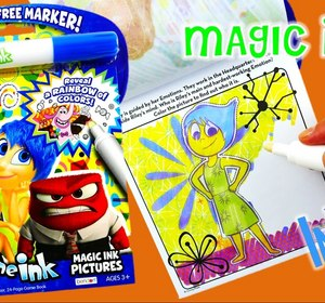 new disney inside out imagine ink coloring book rainbow color pen surprise video by eviestoyhouse fawesometv - Imagine Ink Coloring Book