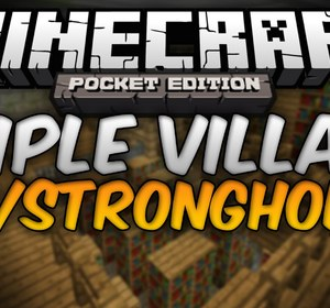 STRONGHOLD AND 3 VILLAGES - Epic Triple Village Seed - Minecraft Pocket  Edition