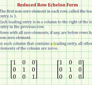 Ex: Write a 3x3 Matrix in Reduced Row Echelon Form (Not Identity ...