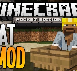 BOATS in MCPE - The Boat Mod! - Minecraft Pocket Edition