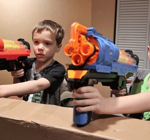 Nerf War: Home Alone is brought to you by Twin Toys! In this Nerf war  episode of Twin Toys, twin kids, Eli and Liam realize when they come home  from school ...
