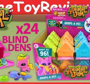 Full Box 24 Animal Jam Surprise Blind Bag Houses Game Codes Unboxing