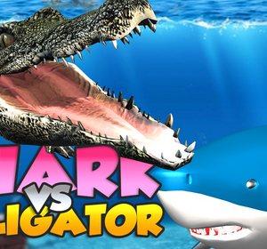 8040f86fa7b86c Shark Finger Family VS Alligator - Crocodile Finger Family Video by  3D.Alphabet.Songs
