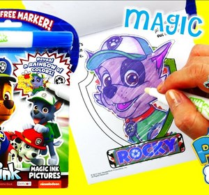 paw patrol imagine ink new coloring book episode with magic ink by eviestoyhouse fawesometv - Imagine Ink Coloring Book