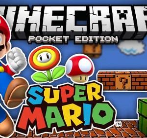 SUPER MARIO MOD - Create Your Own Mario Parkour Levels - Minecraft PE  (Pocket Edition)
