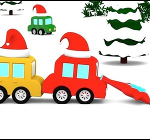 Cartoon Cars Snow Diving Christmas Cartoons For Children