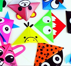 10 Easy Animal Origami Paper Corner Bookmarks