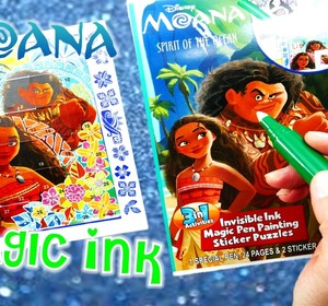 disney moana movie imagine ink coloring book rainbow color pen surprise video by eviestoyhouse fawesometv - Imagine Ink Coloring Book