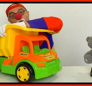 videos for kids car clown massive lego truck and teddy bear truck