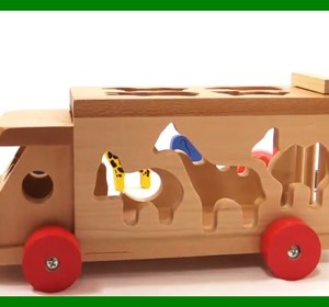 Kid's Brio Toys - Zoo Truck Jigsaw Learn Wild Animals Puzzle Learn To Count  Games For Children