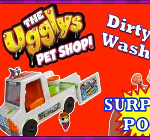 074bc4f204 The Ugglys Pet Shop Dirty Dog Wash Van Play Set Opening Plus Surprise  Play-doh Poop Egg Video by ToyPalsTV