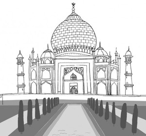 draw the world famous landmark of india the taj mahal by foodquest fawesometv