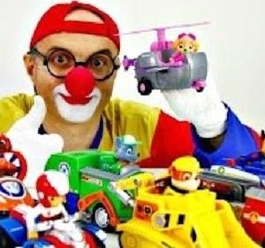 general car clown paw patrol toy tr by kidsfirsttv childrens videos