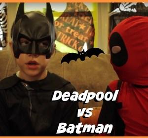 kid deadpool vs batman in real life halloween costumes new little superheroes superhero kids video by superherokids fawesometv