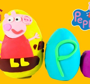 Peppa Pig Surprise Egg With Special Guest Video by EviesToyHouse | fawesome.tv