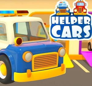 videos for kids helper cars 3 police car fire truck an ambulance and a sweeper race video by kidsfirsttv fawesometv