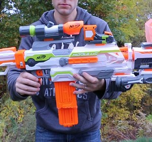 NERF War - N Strike Modulus Upgrade Kits ALL Attachments Video by  TwinToysandCandy | fawesome.tv
