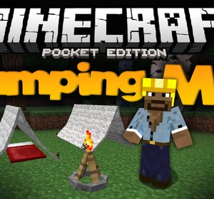 Camping Mod For MCPE - Adds Tents, Campfires, and Sitting Logs