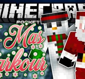 Christmas Minecraft Santa.Santa Parkour In Mcpe Christmas Edition Parkour Map Minecraft Pe Pocket Edition