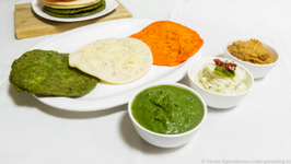 Tricolor Uttapam & Chutneys Recipe -  Without Artifical Colors -  Independence Day Special