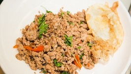 Minced Pork Thai Basil with Fried Egg Recipe