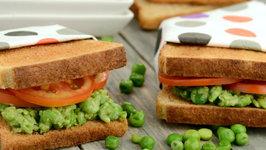 Green Peas Sandwich (Healthy Kids Recipe)