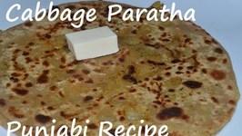 Cabbage Paratha-Punjabi style- Cabbage Stuffed Flat Bread- Band Gobi Matar ka Parantha