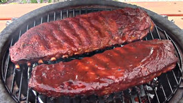 Texas Style BBQ Pork Spare Ribs - On the Grill Dome
