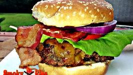 Cheddar BLT Burgers with Sriracha Mayo