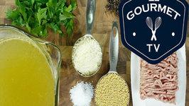 Zuppa di Polpette Piccoli (Mini Meatball Soup)