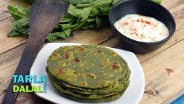 Palak Paratha, Punjabi Palak Paratha, Spinach Paratha