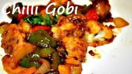Chilli Gobhi -Famous Indo Chinese Cauliflower Dry