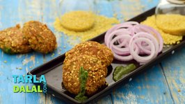 Moong Dal and Paneer Tikki (Low Calorie Snack)