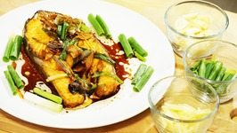 Chinese Grilled Salmon Fish with Ginger & Scallions  Merry Christmas & Happy New Year