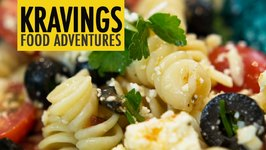 Mediterranean Pasta Salad With Olives, Feta, Sundried Tomatoes, Parmesan And Capers