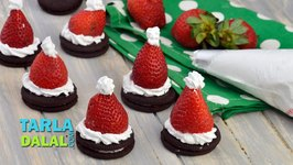 Oreo Cookie Santa/ Christmas Recipe/ Very Quick Kids Dessert