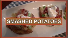 Super Bowl Appetizer- Smashed Potatoes