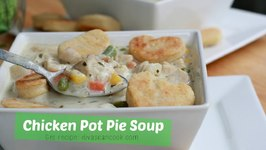 Bangin' Creamy Chicken Pot Pie Soup