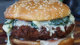 Popeye Burger - Pork Cheeseburger