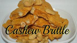 Cashew Brittle or Punjabi Gatchak or Kaju Chikki