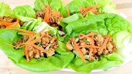 Ginger Sesame Chicken Lettuce Wraps- Lighter Side Recipe